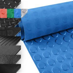 ANRO Gummimatte Schutzmatte Noppenmatte Bodenmatte Breitriefen Gummil/äufer 100cm Breit 3mm stark Schwarz 300 x 100cm